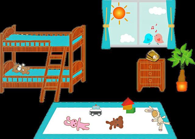 patrová postel v pokojíčku